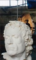 de la Salle clay mold of head